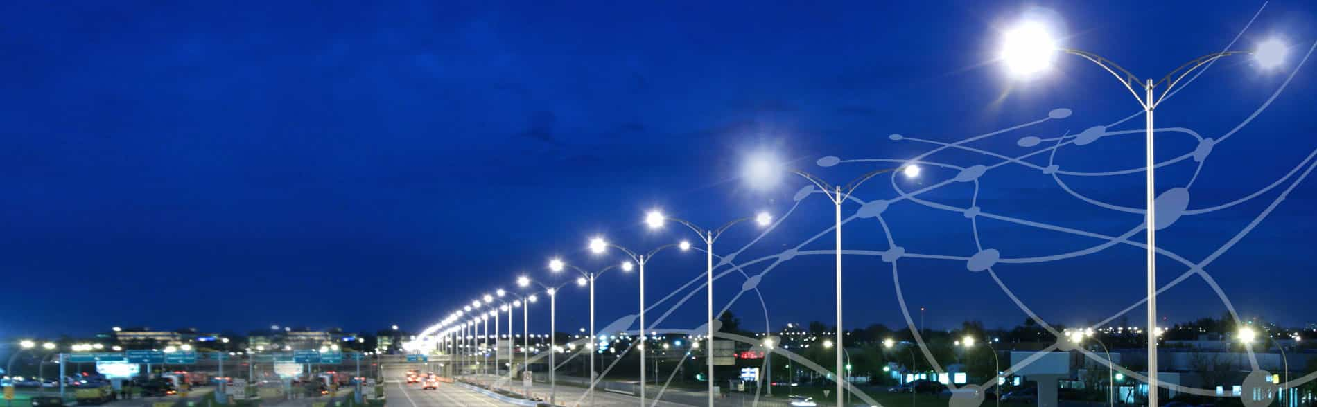 VEmesh smart street lighting control - wireless and IoT